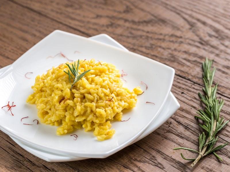 Saffron Risotto With Pistachios