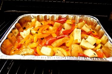 Roasted Potatoes With Whole Garlic