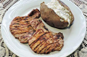 Elegant BBQ Sauced  Pork Chops