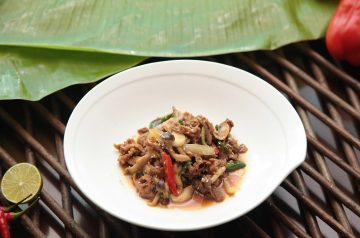 Beef and Pine Nuts in Sweet Black Pepper Sauce