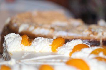 Peach Dump Cake for 2
