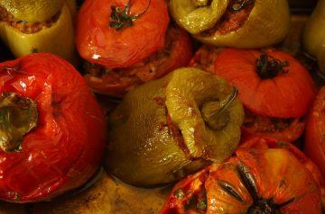 Corn Stuffed Tomatoes