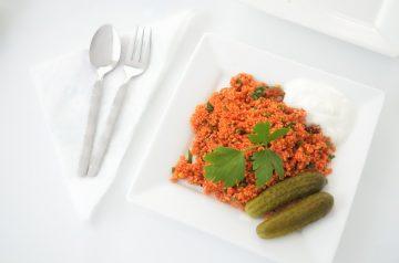 Couscous Cakes With Tomato-Garlic Ragout