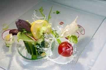 Crab-Cucumber Salad in Tomato Cups