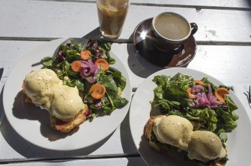 Creamed Spinach Eggs Benedict
