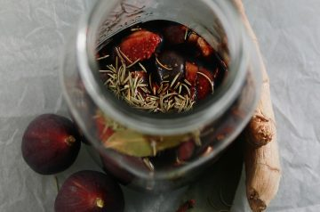 Ginger Glazed Strawberries (Herbs Optional)