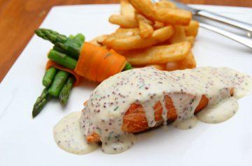 Simple Mustard Salmon