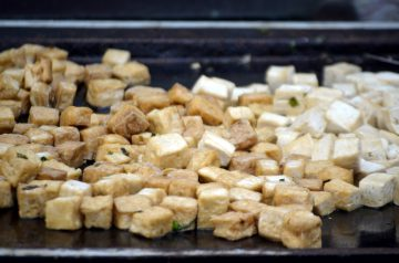 Stir Fried Vegetables and Tofu in Black Bean Sauce