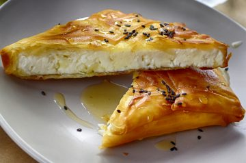 Greek Phyllo Seafood Rolls