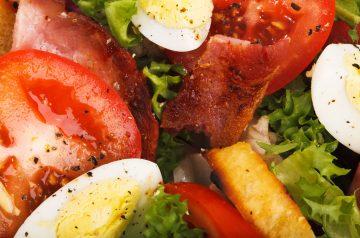 Green Pea and Bacon Salad