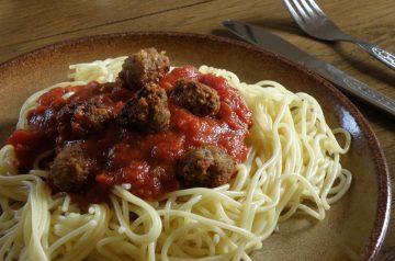 Italian Meatballs in Rich Tomato Gravy