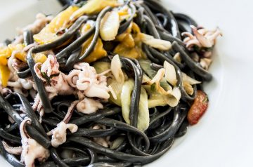 Linguine with Salmon and Mushrooms