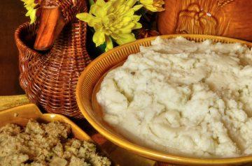Mashed Potatoes Swirled With Pesto