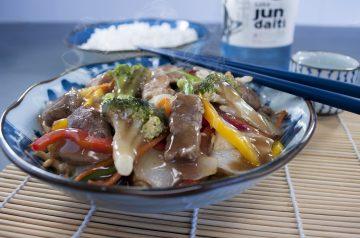 Mean Chinese Chicken Lo Mein