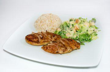 Mediterranean Chicken and Rice Salad