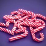 Meringue candy canes