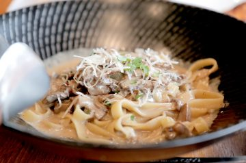 Mushroom and Chilli Pasta