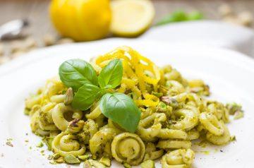 Whole Wheat Basil Pasta
