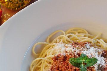 Pasta With Mushroom Garlic Sauce And Olives