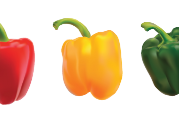 Green and Red Pepper Salad
