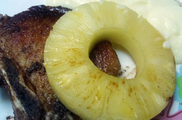 Pork Chop and Pineapple Pie