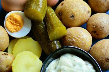 Grilled Sweet Potato and Scallion Salad