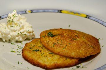Potato--cheese Logs