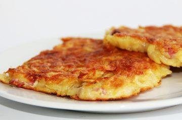 Potato Pancakes with Homemade Applesauce
