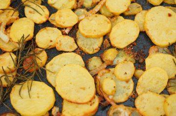 Cranberry-Glazed Roasted Sweet Potatoes