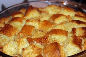 Raisin Bread Pudding With Apple-Molasses Sauce