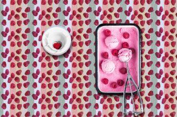 Raspberry and Cream Salad