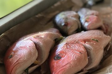 Red Snapper Baked with Orange
