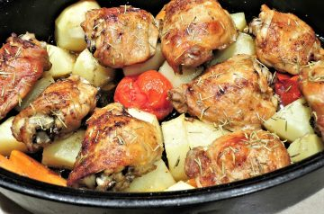 Roasted Chicken Breasts With Jalapeno and Tomatoes