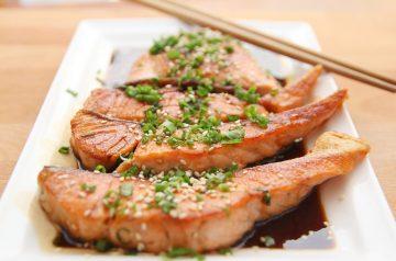 Salmon Steaks Teriyaki Style