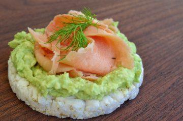 Salmon with Avocado Wild Rice
