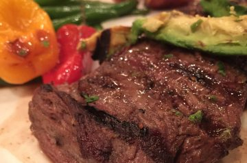 Skirt Steak With Red-Wine Sauce