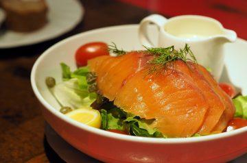 Smoked Salmon and Caviar Salad