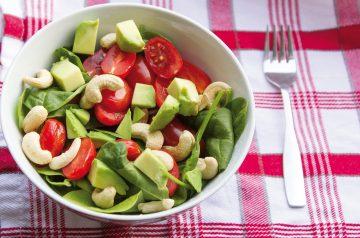Spinach Cashew Salad
