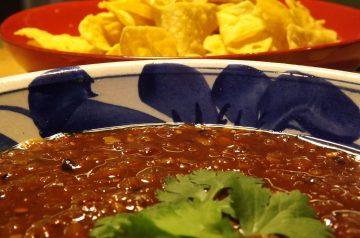 Steak Salad With Spicy Garlic Salsa