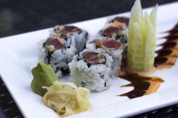 Teriyaki Tuna With Wasabi Mayonnaise and Pickled Ginger