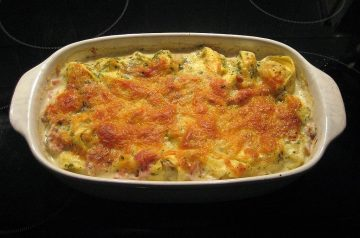 Swissed Ham and Noodles Casserole