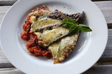 Triple-Cheese Eggplant (Aubergine) Parmigiana