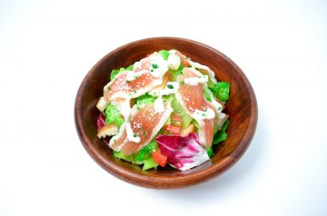 Southwestern Caesar Salad With Creamy Chipotle Dressing