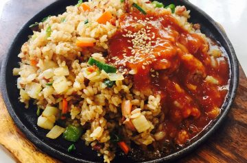 "Vegetarian Hawaiian Fried Rice With "" Ham"""