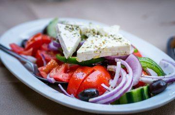 Warm Greek-style Rice Salad