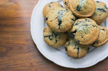 Wild Blueberry Muffin Peach Cobbler