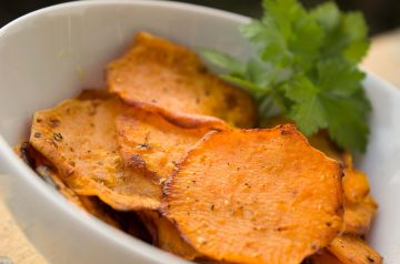 Oven-Dried Sweet Potato Chips