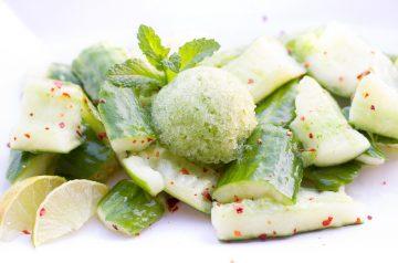 Yogurt with Cucumber and Mint (Kheere Ka Raita)