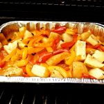 Breakfast Red Potatoes With Garlic, Peppers and Cheese  (Aka Sha