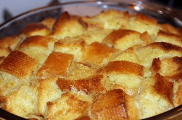 Breakfast Bread Pudding With Peaches - Ww